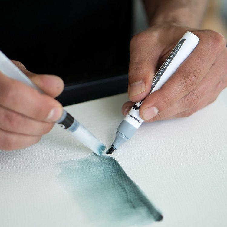 Aqua Color Brush Grey Set example 5