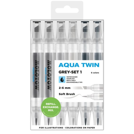 AQUA TWIN Grey-Set 1