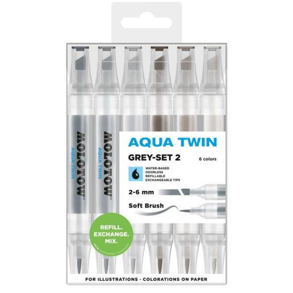 AQUA TWIN Grey-Set 2