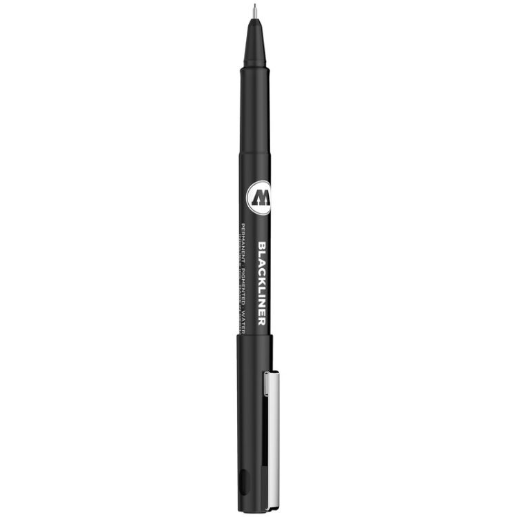 BLACKLINER 0.05 - 1 MM, CHISEL, ROUND - 0.05 mm - attached