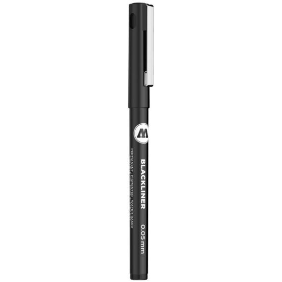 BLACKLINER 0.05 - 1 MM, CHISEL, ROUND - 0.05 mm - close