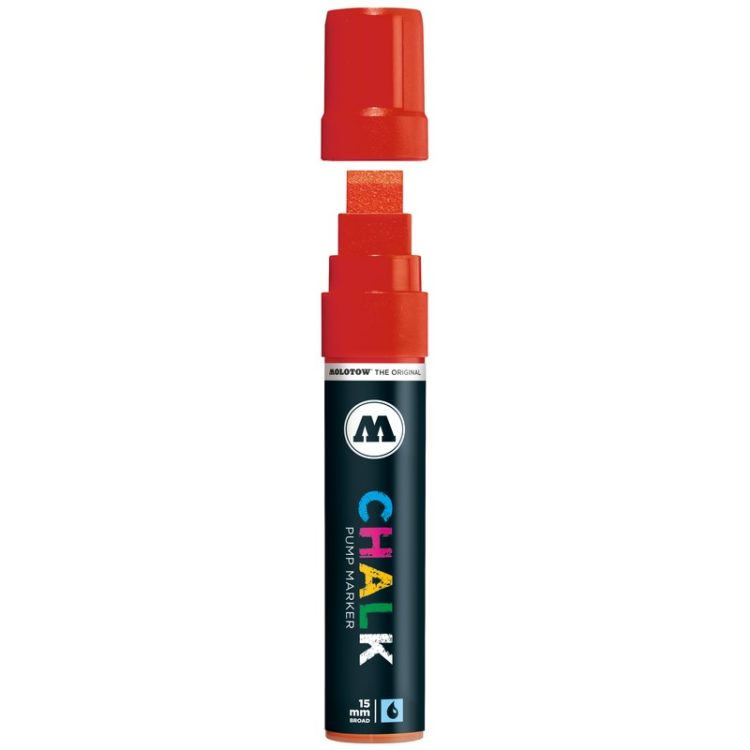Chalk Marker (15 mm) - red 003 - open