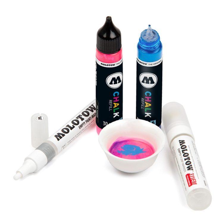 "Chalk Refill ""metallic"" 30 ml - metallic silver 001 - example 5"