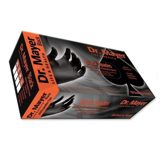 Mănuși nitril negre 100 buc/cutie