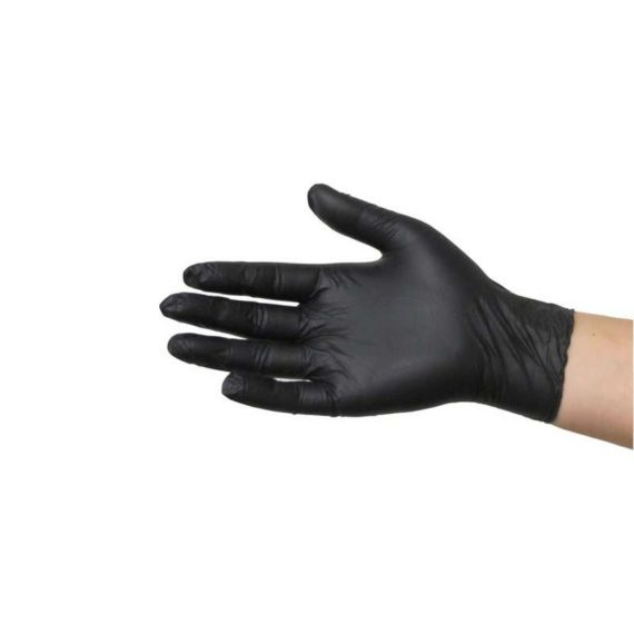 Mănuși nitril negre example