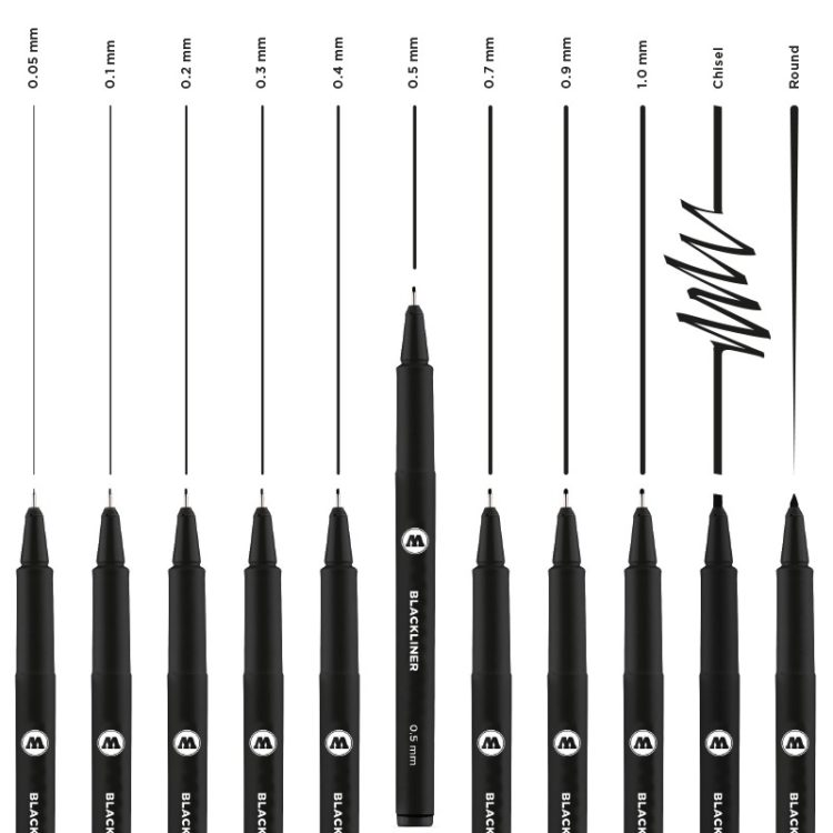 BLACKLINER Complete Set - example