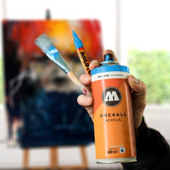 ONE4ALL™ Acrylic Spray 400 ml - clear coat gloss - example