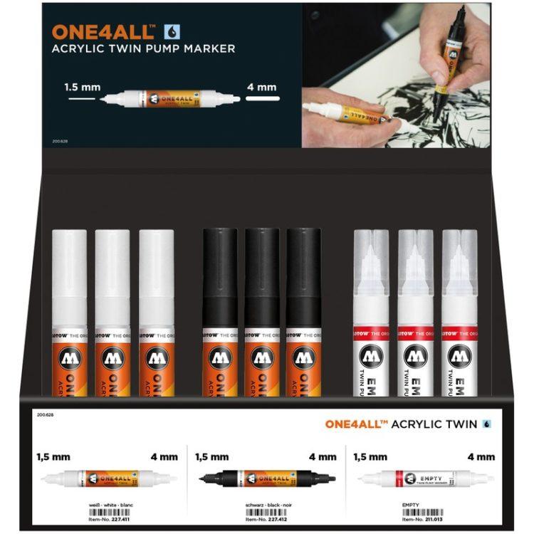 One4All Acrylic Twin Display Set
