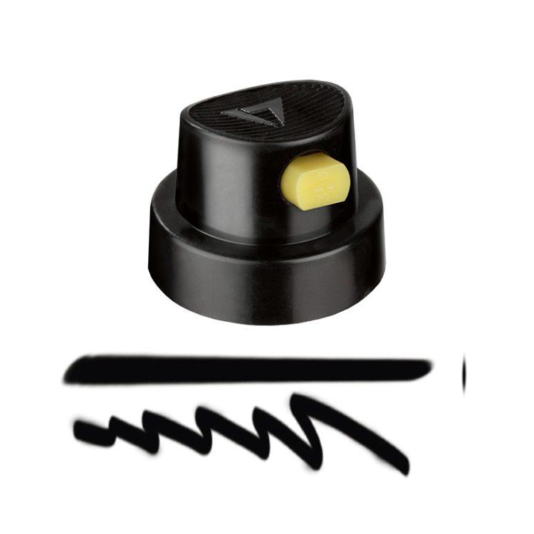 Spray cap Flat Artist black/yellow