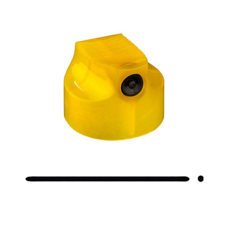 Spray cap German Skinny yellow/black