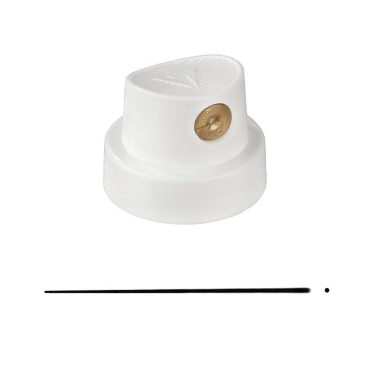 Spray cap Super Skinny white/gold